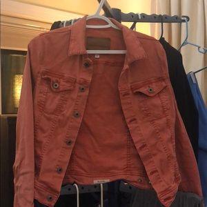 Orange Jean jacket
